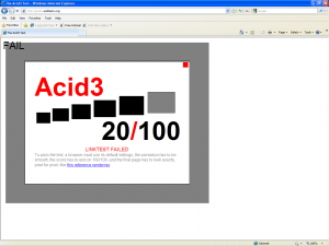 IE8 Acid3 Test
