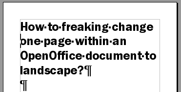 Title on OpenOffice Page